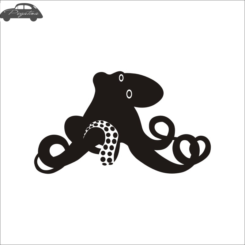 Pegatina Octopus Fish Squid Car Decal Sleeve-fish Posters Boat Decals Decor Mural Wall Sticker Angling Hooks Shop Vinyl
