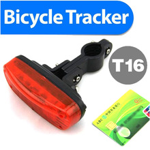 2016 Bicycle GPS tracker GSM/GPRS GPS Mini Hidden Bike Tracker T16 Quad Band Real-time Google Map Tracking Sim Card Slot(China)