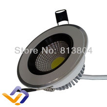 Wholesale Downlight led 5W COB Down light lamp 440LM AC85~265V CE RoHS warranty 3 years cob light  White Cover  reflection cup