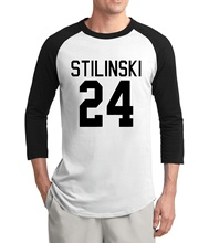 hot sale Teen Wolf Stilinski 24 raglan t shirts men 2017 new summer 3/4 sleeve men t shirt 100% cotton high quality men tshirt(China)