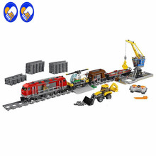 A Toy A Dream Lepin 02009 1033pcs Building Block Compatible with 60098 city Train Rail Train Engineering Vehicle toy hobbies(China)