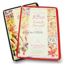 Advertising photo Album 10pcs Standard 1 page A4 PVC Recipe frame book Restaurant food shop menu frame file list picture albums