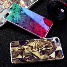 KISSCASE For iphone 6 6s 7 Case Bling Blue Light Ray Back Cover Soft TPU Glitter Diamond Pattern Coque For iphone 7 6 6s Plus