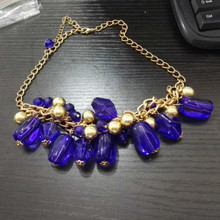 Women Fashion New Brand Design Fashion Woman Sell Well Necklace Purple Bohemian Style Necklace(China)