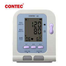 2pcs/lot With CE FDA Digital Sphygmomanometer Blood Pressure Monitor CONTEC 08C Automatic with software Upload Data to Computer(China)