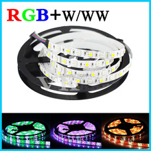 LED strips SMD 5050 DC 12V flexible bar light neon lightRGBW RGBWW non-waterproof 5M/roll 60led/M LED RGB+White/worm white