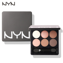 NYN High Quality 6 Colors Diamond Pigment Makeup Eyeshadow Pallete to Eye Kit Eye Shadow Beauty