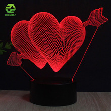 LOVE 3D Lamp Swan Balloon Romantic Night Light LED Decorative Table Lamp USB Colorful Color Change Couple Memorial Day Gift