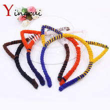 Women Girls Cat Ear Headband Children Hair Band Accessories Party Club Leopard Kitty Ear Hairbands