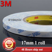 1x 17mm*50M*0.15mm White 3M 9448A White High Temperature Resistance Double Coated Tape for TV/DVD/Phonee Display