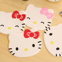 Lovely Hello Kitty Kitchen Silicone Placemats Cartoon Drink Coasters Insulation Pads Cup Bar Mat Placemat Desk Accessories 1pcs
