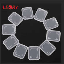 10pcs/lot Practical Transparent Plastic Standard SD SDHC Memory Card Case Holder Box Storage