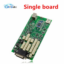 100% newest green relays Single Board PCB new vci With bluetooth 2015 r3 version on cd with carton box TCS CDP PRO ship free(China)