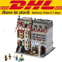 DHL 2082PCS LEPIN 15009 City Street  Pet Shop Model Building Block Set Bricks Kits Set Compatible 10218