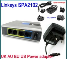 Brand New Unlocked Linksys SPA2102 VoIP Phone Apapter with 1LAN+2 FXS VoIP Router Voice Phone Adapter