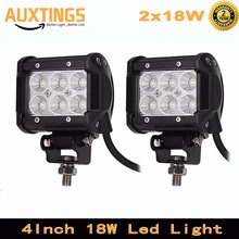 2PCS 4INCH 18W LED Work Light Bar for Motorcycle Tractor Boat Off Road 4WD 4x4 Truck SUV ATV Spot Flood 12v 24v