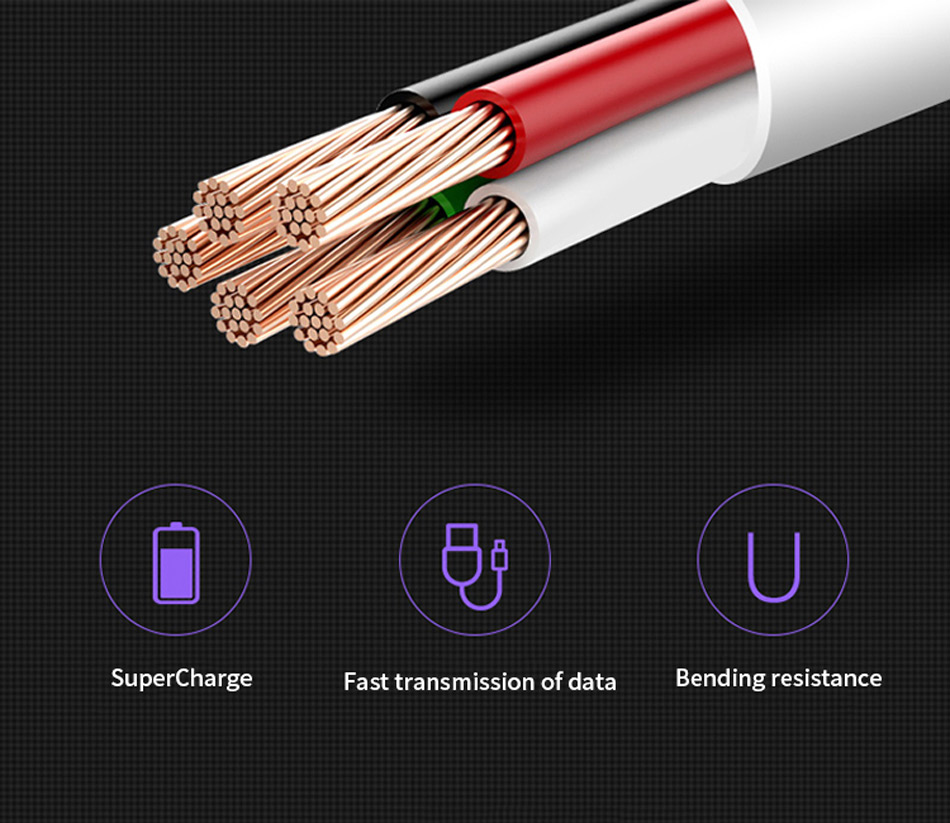 4Huawei P20 Pro Lite SuperCharge 5A Cable USB Type C Original SCP Fast Quick Charging Cable Type-C P10 P9 Plus Lite
