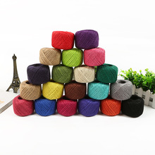 FUNIQUE 1pc 50m Jute Twine Rope For Wedding Decoration Dressed DIY Handmade Ropes For Crafts And Scrapbooking Party Supplies