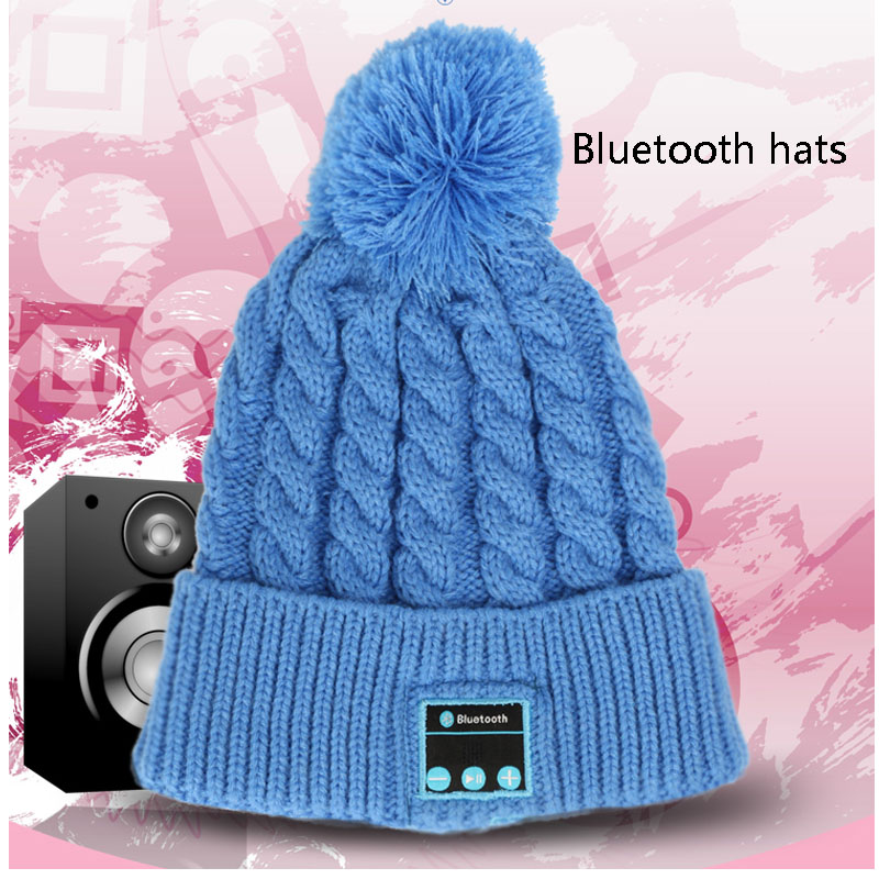 Bluetooth Warm Beanie Knitted Winter Hat Headset Hands-free Magic Mic Speaker Sports Hats For Boy Girl Music Cap Amp WM3Одежда и ак�е��уары<br><br><br>Aliexpress