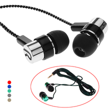 MP3/Mp4 Roping Stereo Subwoofer Earphones In Ear Headsets Earbud 1.1M Reflective Fiber Cloth Line Metal Headset