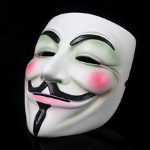 Resin V Guy fawkes mask guy mask  masquerade party Vendetta  dance mask cos Halloween Carnaval Costume men