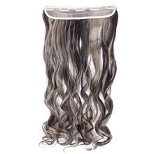 SNOILITE 26inch Women Hair Extensions Curly Long Synthetic Woman Clip in Hair Extention Hairpieces Ombre Hairstyles(China)