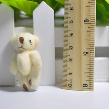4.5cm Plush Lovely Teddy Bear Pendants  small bear Key chain/jewellery accessory gift Soft Baby shower Dolls