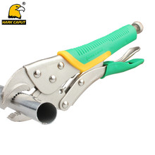 10''/225mm Locking Pliers Round Mouth Welding Clamp Vice Grips Pliers With Rubber Grip Handles Multi-fonction Tools(China)
