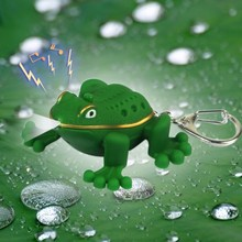 The green tree frog led voice sound light keychain portable small pendant small gifts for children wholesale