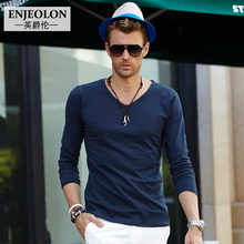 Famous Brand Clothing Special Store V Neck T Shirts for Men Street Style Long Sleeve T Shirt Male Fashion 2016 New Summer Style
