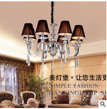 European luxury chandelier crystal chandelier eight LED lamps light living room dining