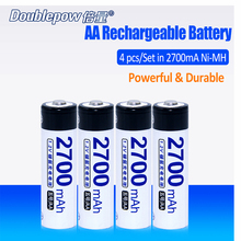 4pcs/Lot Doublepow DP-2700mA 1.2V 2700mA Ni-MH Rechargeable Battery in Actual High Capacity of 2700mA Battery Cell FREE SHIPPING(China)