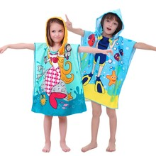Baby Clothing Summer Boys Girls Robe Hooded Towel Cartoon Bathrobe Pokemon kids Nightgown Children Swimwear Cape Costume