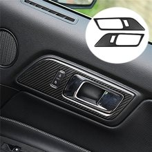 Buy 2Pcs Carbon Fiber Interior Door Handle Frame Sticker Ford Mustang 2015-2017 Car Interior Mouldings Decoration Accessory for $34.95 in AliExpress store