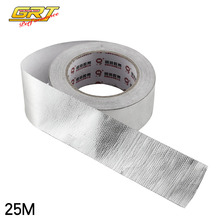 "Aluminum Foil Exhaust Wrap 2""x25 Meter Roll Self Adhesive Reflect A Sliver Heat Wrap Barrier"