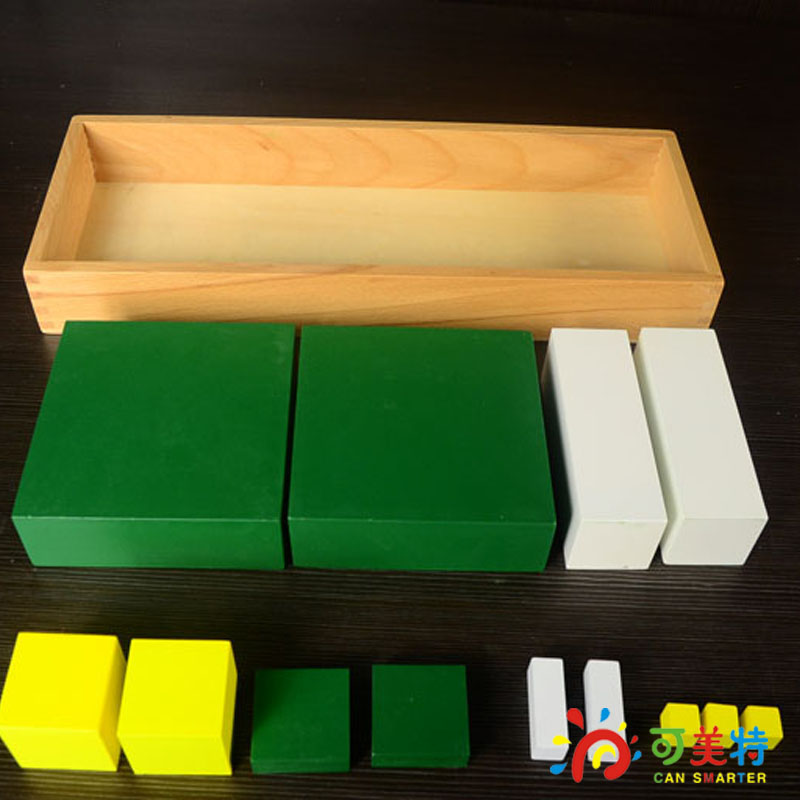 Montessori  Materials  Triple  Blocks  Beech Wood  Math toys Early educational toys Can Smarter<br>