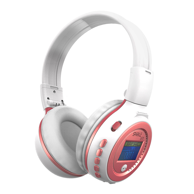 Zealot B570 Wireless Stereo LCD Bluetooth Headphone MP3 Headset Foldable FM/SD Card Headset With Mirc For iPhone PC Phone MP3<br><br>Aliexpress