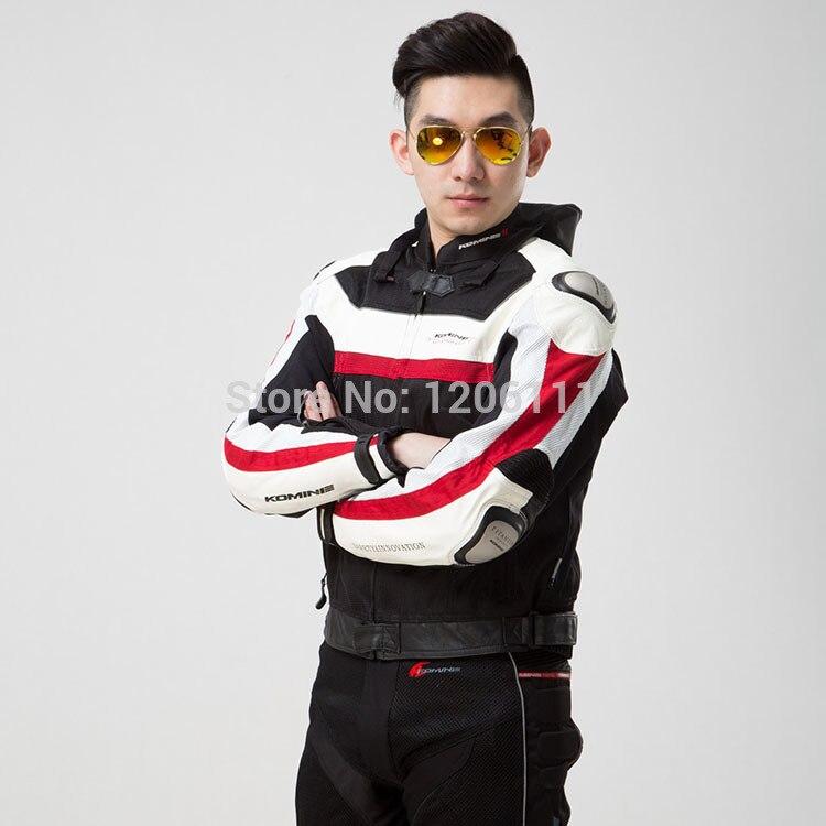 KOMINE JK021 jacket Motorcycle Jacket  Titanium Jacket  Mens road cycling jacket Color: Red White <br><br>Aliexpress