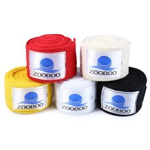 Zooboo 1 Pair 5cm Width 3M Length Cotton Boxing Gloves Bandage Straps Sanda MMA Breathable Sweatproof Handwrap
