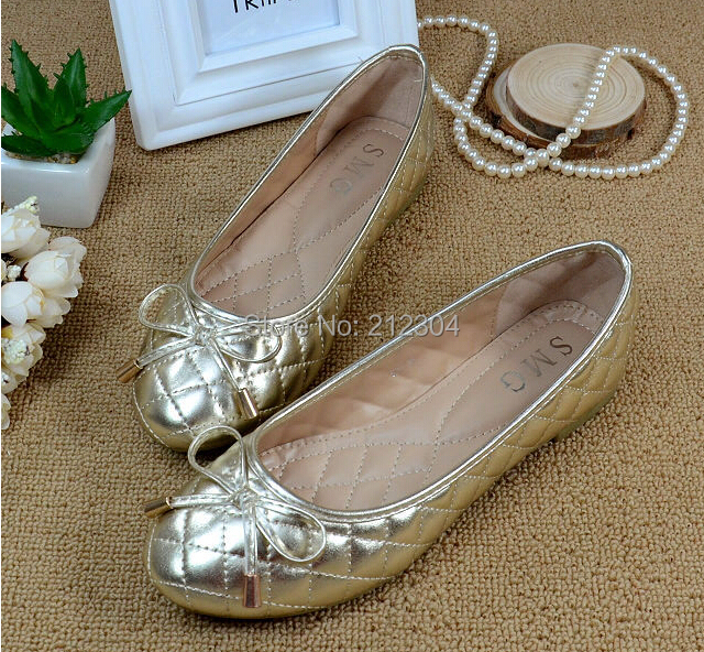 Free shipping Europe comfortable flat shoes BOW Ballet Flats shoes large size shoes Women Flats plus size 35--41<br><br>Aliexpress