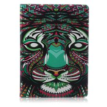 "Green hair lionpattern Leather Flip Case for Apple iPad air1  2 iPad mini 1 2 3 iPad 2 3 4  pro 12.9"" 9.7"" Case With Card Holder"
