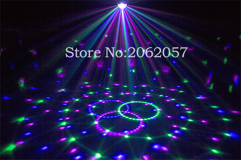 2017 new LED remote 9 colors 28W DMX magic ball DJ disco sound control crystal ball Christmas home club laser light