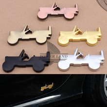 1PCS Car Styling Metal Sticker Vintage Willys 3D Model Emblem Badge Decal 5colors For Jeep Wrangler Grand Cherokee Compass