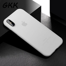 GKK Phone Cases For iPhone X Cover Case For iphone X Cases 0.3mm Ultra Thin Matte Transparent Phone Bag Capa(China)