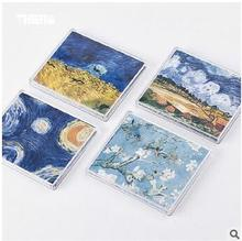 New Creative Fashion Vincent van Gogh Paper Wallets Waterproof Purse Foldable Bifold Wallet For Men Women environmental supply(China)