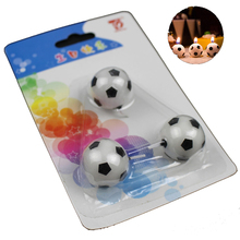 XUNZHE Creative 3pcs/set Football candle children Birthday Cake Cupcake Toppers Birthday party Baby shower Cute Cake Candles
