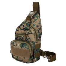 Outdoor Men Women Tactical military Camouflage nylon hiking Chest Pack Small Messenger package sport Riding travel Shoulder Bags(China)
