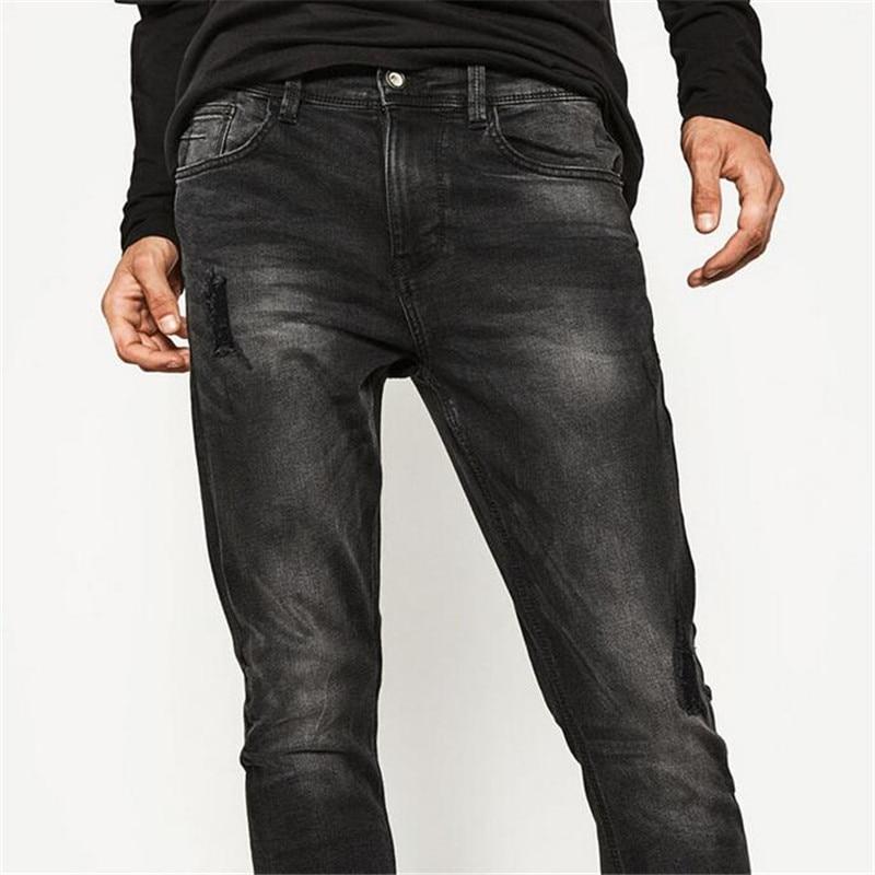 Mens Skinny Jeans High Street Fashion Biker Jeans Slim Fit Masculina Water Washed Soft Pencil Pants Plus Size 29-36 Fitness PantÎäåæäà è àêñåññóàðû<br><br>