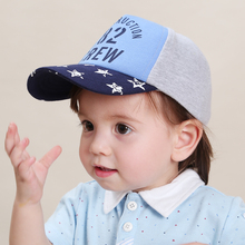 baby & kids boy girl unisex cool letter print star baseball cap children new spring summer cotton casual trucker hats(China)