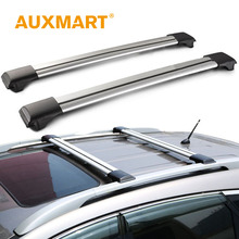Auxmart Car Roof Rack Universal for Auto SUV Offroad Roof Rack Bar 97~111cm + Anti-theft Lock Load Cargo Luggage Carrier 150LBS